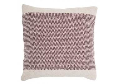 Coussin en coton rouge et blanc 45x45 - Bloomingville