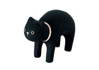 Chat noir en bois - T-lab