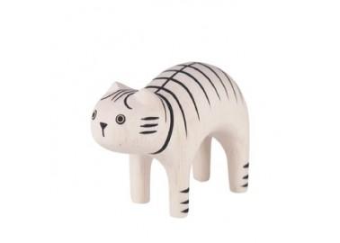Chat tigré en bois - T-lab