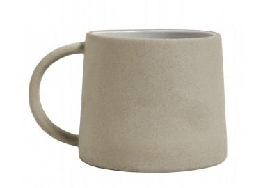 Mug beige et blanc en céramique - Nordal