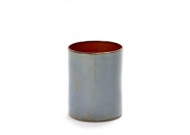 Vase cylindre Smokey blue – Anita Le Grelle - Serax