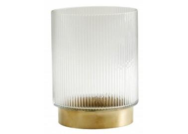 Vase Ring avec lignes, base laiton - Nordal