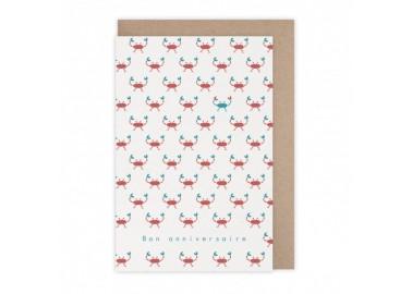 Carte Anniversaire crabes - Monsieur Papier
