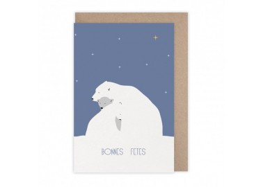 Carte Bonnes fêtes polaires - Monsieur Papier