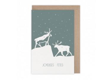 Carte Joyeuses fêtes Svalbard - Monsieur Papier
