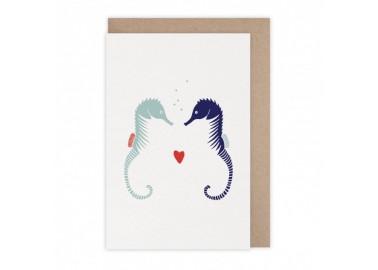 Carte Hippocampes - Monsieur Papier