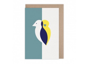Carte Oiseau duo - Monsieur Papier