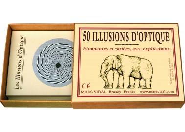 50 Illusions d'optique - Boîte - Marc Vidal