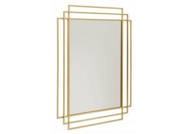 Grand miroir en métal doré Art déco - Nordal
