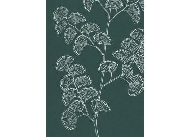 Affiche Fougères sur fond vert 30x40 - The Dybdahl Co.