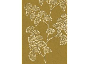 Affiche Fougères sur fond jaune 30x40 - The Dybdahl Co.