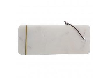 Planche en marbre blanc avec liseré doré - Bloomingville