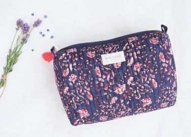 Trousse large Sarika Bleuet - Fleurs - Bindi Atelier
