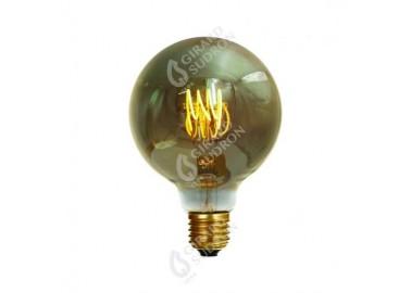 Ampoule Globe G80 Filament Led 4 LOOPS - Allumée - Girard Sudron