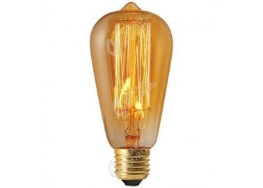 Ampoule Edison Filament Métallique Droit - Allumée - Girard Sudron