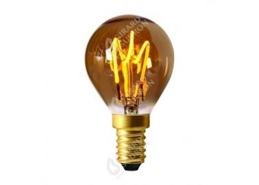 Ampoule Sphérique Led Loops E14 - Allumée - Girard Sudron