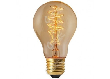 Ampoule Filament Métallique Spiralé - Allumée - Girard Sudron